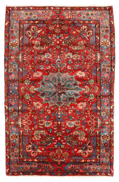Nahavand Old Matto 151X235 Itämainen Käsinsolmittu Tummanpunainen/Tummanruskea (Villa, Persia/Iran)