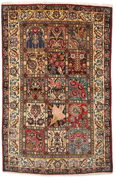 Bakhtiar Collectible Matto 108X170 Itämainen Käsinsolmittu Tummanruskea/Tummanpunainen (Villa, Persia/Iran)