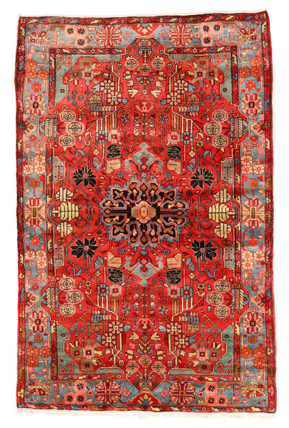 Nahavand Old Matto 152X235 Itämainen Käsinsolmittu Tummanpunainen/Punainen (Villa, Persia/Iran)