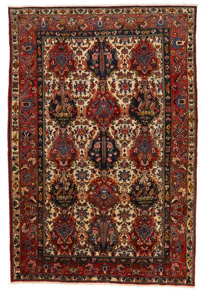 Bakhtiar Collectible Matto 206X302 Itämainen Käsinsolmittu Tummanruskea/Tummanpunainen (Villa, Persia/Iran)