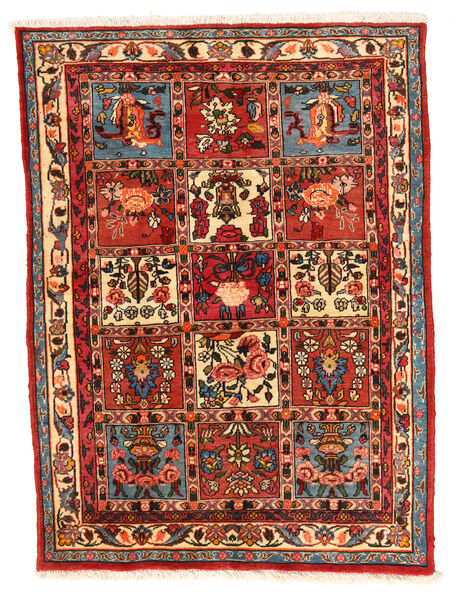 Bakhtiar Collectible Matto 106X140 Itämainen Käsinsolmittu Ruoste/Tummanpunainen (Villa, Persia/Iran)