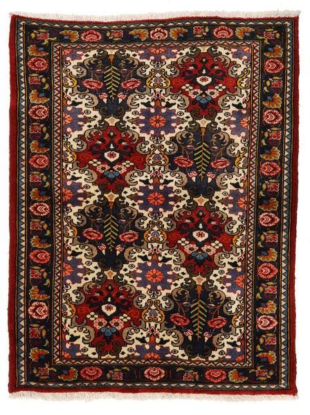 Bakhtiar Collectible Matto 110X142 Itämainen Käsinsolmittu Musta/Ruoste (Villa, Persia/Iran)