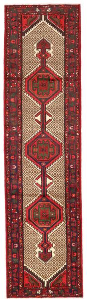 Zanjan Matto 74X283 Itämainen Käsinsolmittu Käytävämatto Tummanpunainen/Tummanruskea (Villa, Persia/Iran)