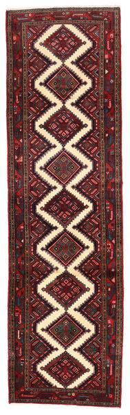 Asadabad Matto 82X290 Itämainen Käsinsolmittu Käytävämatto Tummanpunainen/Musta (Villa, Persia/Iran)