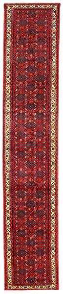 Hamadan Matto 83X393 Itämainen Käsinsolmittu Käytävämatto Tummanpunainen/Tummanruskea (Villa, Persia/Iran)