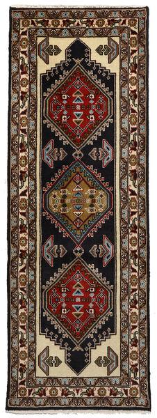 Ardebil Matto 70X196 Itämainen Käsinsolmittu Käytävämatto Tummanruskea (Villa, Persia/Iran)