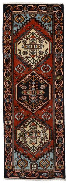 Ardebil Matto 65X188 Itämainen Käsinsolmittu Käytävämatto Tummanruskea/Tummanpunainen (Villa, Persia/Iran)
