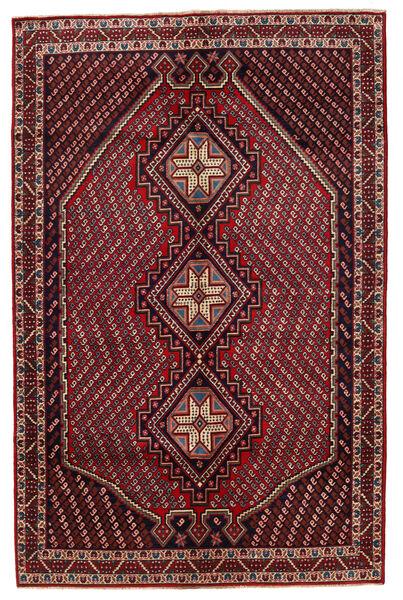 Afshar/Sirjan Matto 149X228 Itämainen Käsinsolmittu Tummanpunainen/Tummanharmaa (Villa, Persia/Iran)