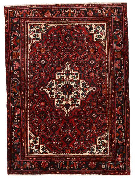 Hosseinabad Matto 150X209 Itämainen Käsinsolmittu Tummanpunainen (Villa, Persia/Iran)