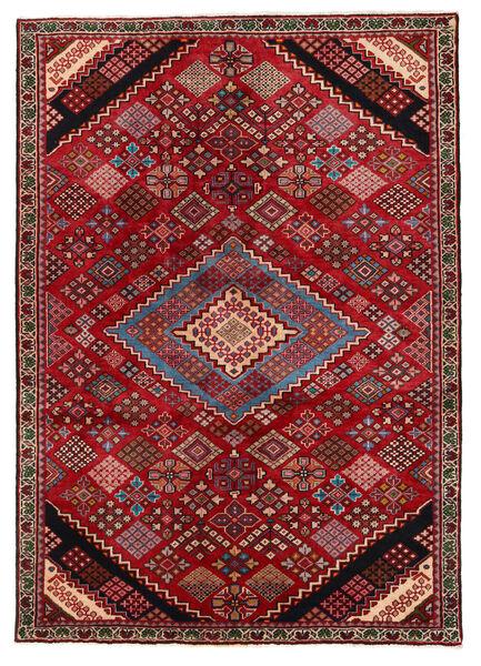 Saveh Matto 138X196 Itämainen Käsinsolmittu Tummanpunainen/Tummanruskea (Villa, Persia/Iran)