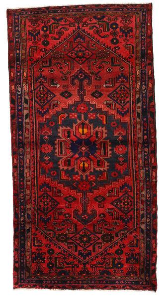 Hamadan Matto 120X230 Itämainen Käsinsolmittu Tummanpunainen/Ruoste (Villa, Persia/Iran)