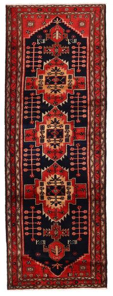 Hamadan Matto 105X301 Itämainen Käsinsolmittu Käytävämatto Tummanpunainen/Ruoste (Villa, Persia/Iran)