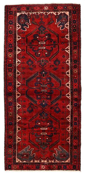 Hamadan Matto 117X257 Itämainen Käsinsolmittu Ruoste/Tummanruskea (Villa, Persia/Iran)