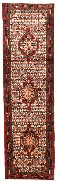 Hamadan Matto 76X265 Itämainen Käsinsolmittu Käytävämatto Tummanruskea/Tummanpunainen (Villa, Persia/Iran)