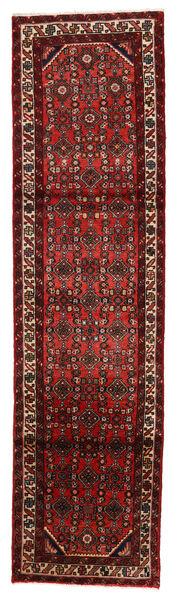 Hosseinabad Matto 75X283 Itämainen Käsinsolmittu Käytävämatto Tummanpunainen (Villa, Persia/Iran)