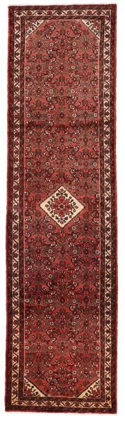 Hosseinabad Matto 79X301 Itämainen Käsinsolmittu Käytävämatto Tummanpunainen/Tummanruskea (Villa, Persia/Iran)