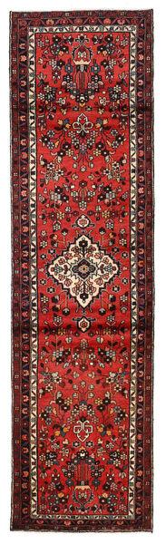 Hamadan Matto 82X294 Itämainen Käsinsolmittu Käytävämatto Tummanruskea/Tummanpunainen (Villa, Persia/Iran)