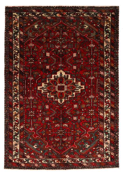 Hosseinabad Matto 143X207 Itämainen Käsinsolmittu Tummanpunainen (Villa, Persia/Iran)