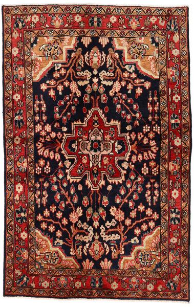 Mahal Matto 137X213 Itämainen Käsinsolmittu Tummanpunainen/Tummanruskea (Villa, Persia/Iran)