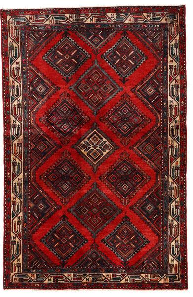 Asadabad Matto 137X210 Itämainen Käsinsolmittu Tummanpunainen/Tummanruskea/Ruoste (Villa, Persia/Iran)