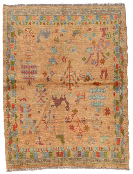 Moroccan Berber - Afghanistan Matto 131X171 Moderni Käsinsolmittu Vaaleanruskea/Tummanbeige (Villa, Afganistan)