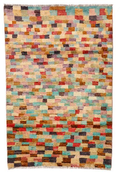 Moroccan Berber - Afghanistan Matto 115X175 Moderni Käsinsolmittu Tummanbeige/Tummanpunainen (Villa, Afganistan)