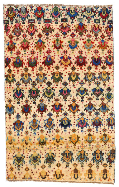 Moroccan Berber - Afghanistan Matto 114X184 Moderni Käsinsolmittu Keltainen/Beige (Villa, Afganistan)