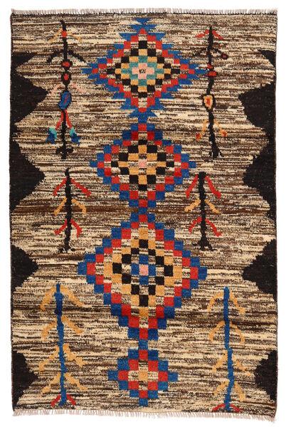 Moroccan Berber - Afghanistan Matto 118X178 Moderni Käsinsolmittu Tummanruskea/Ruskea (Villa, Afganistan)