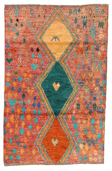 Moroccan Berber - Afghanistan Matto 114X175 Moderni Käsinsolmittu Punainen/Oranssi (Villa, Afganistan)