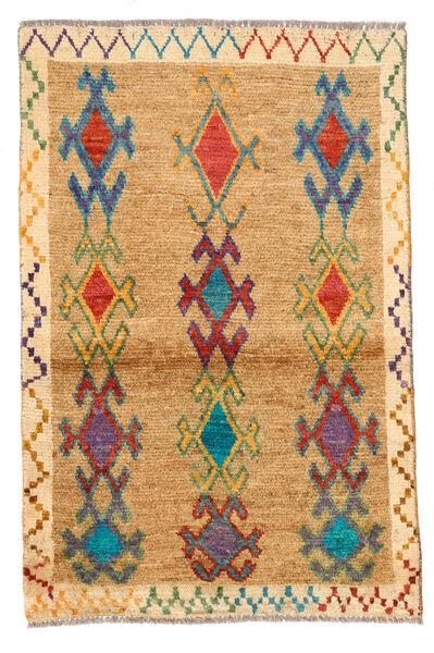 Moroccan Berber - Afghanistan Matto 81X125 Moderni Käsinsolmittu Vaaleanruskea/Tummanbeige (Villa, Afganistan)