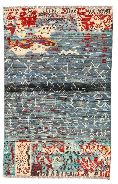 Moroccan Berber - Afghanistan Matto 89X140 Moderni Käsinsolmittu Vaaleanharmaa/Sininen (Villa, Afganistan)