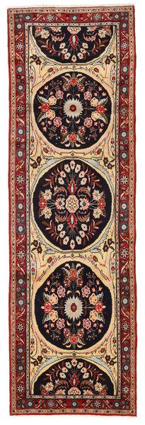 Mehraban Matto 86X280 Itämainen Käsinsolmittu Käytävämatto Tummanruskea/Vaaleanruskea (Villa, Persia/Iran)