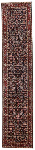 Hosseinabad Matto 82X391 Itämainen Käsinsolmittu Käytävämatto Tummanpunainen/Tummanharmaa (Villa, Persia/Iran)
