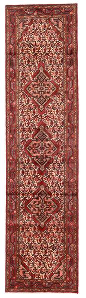 Hamadan Matto 75X299 Itämainen Käsinsolmittu Käytävämatto Tummanpunainen/Vaaleanruskea (Villa, Persia/Iran)