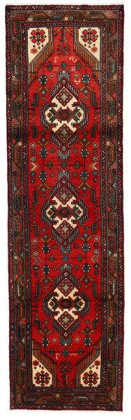 Hamadan Matto 79X279 Itämainen Käsinsolmittu Käytävämatto Tummanruskea/Ruoste (Villa, Persia/Iran)