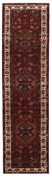 Hamadan Matto 79X296 Itämainen Käsinsolmittu Käytävämatto Tummanpunainen (Villa, Persia/Iran)