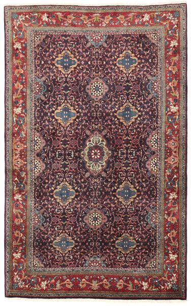 Bidjar Matto 134X209 Itämainen Käsinsolmittu Tummanvioletti/Tummanpunainen (Villa, Persia/Iran)