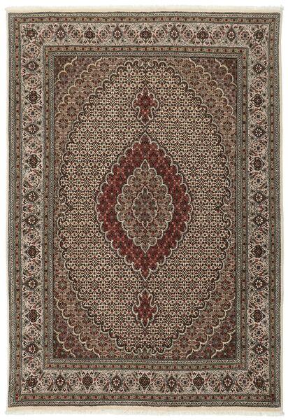 Tabriz 40 Raj Matto 170X242 Itämainen Käsinsolmittu Tummanruskea/Ruskea/Vaaleanharmaa (Villa/Silkki, Persia/Iran)