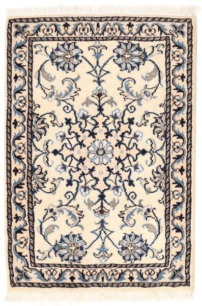 Nain Matto 56X82 Itämainen Käsinsolmittu Beige/Vaaleanharmaa (Villa, Persia/Iran)