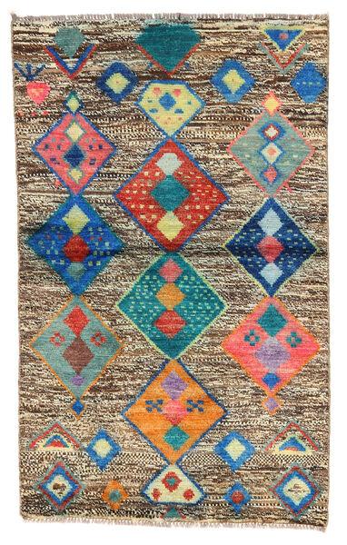 Moroccan Berber - Afghanistan Matto 86X138 Moderni Käsinsolmittu Vaaleanruskea/Tummanharmaa (Villa, Afganistan)
