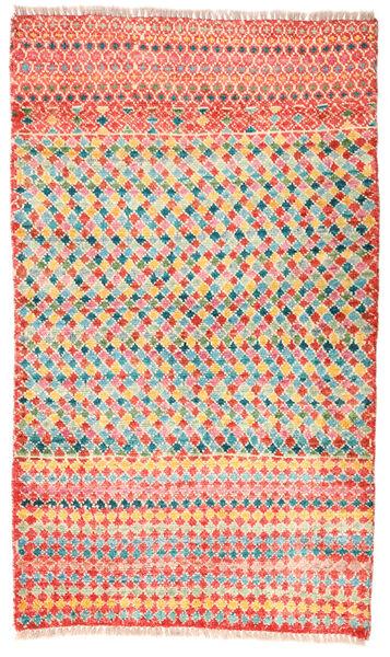 Moroccan Berber - Afghanistan Matto 78X134 Moderni Käsinsolmittu Vaaleanpunainen/Tummanbeige (Villa, Afganistan)