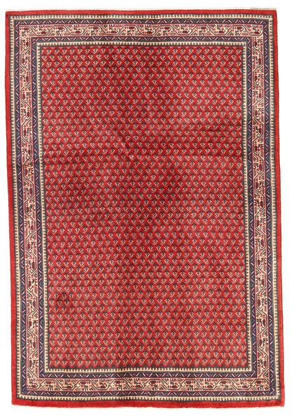Sarough Matto 130X192 Itämainen Käsinsolmittu Ruoste/Tummanpunainen (Villa, Persia/Iran)