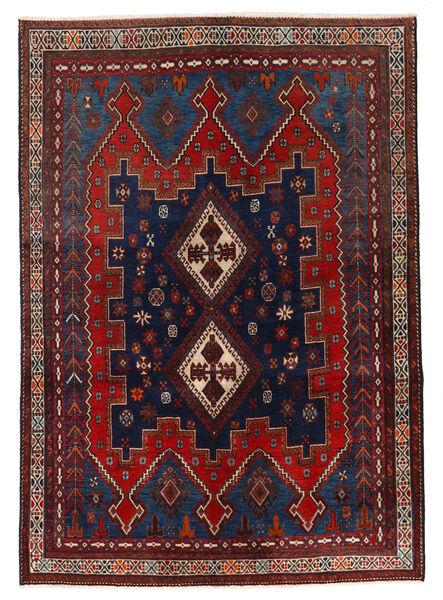 Afshar/Sirjan Matto 137X196 Itämainen Käsinsolmittu Tummanpunainen/Tummansininen (Villa, Persia/Iran)
