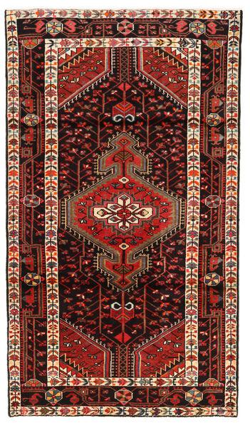 Hamadan Matto 117X202 Itämainen Käsinsolmittu Tummanpunainen/Tummanruskea (Villa, Persia/Iran)