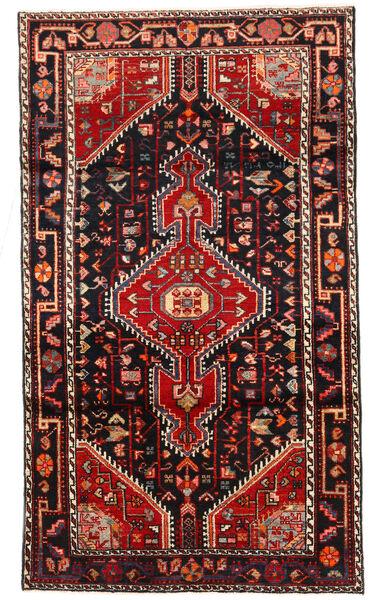 Hosseinabad Matto 112X196 Itämainen Käsinsolmittu Musta/Tummanpunainen (Villa, Persia/Iran)