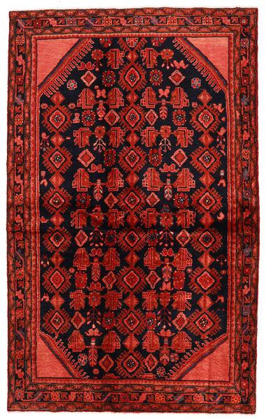 Hosseinabad Matto 138X225 Itämainen Käsinsolmittu Tummanpunainen/Ruoste (Villa, Persia/Iran)