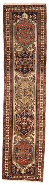 Ardebil Matto 68X294 Itämainen Käsinsolmittu Käytävämatto Tummanruskea/Vaaleanruskea (Villa, Persia/Iran)