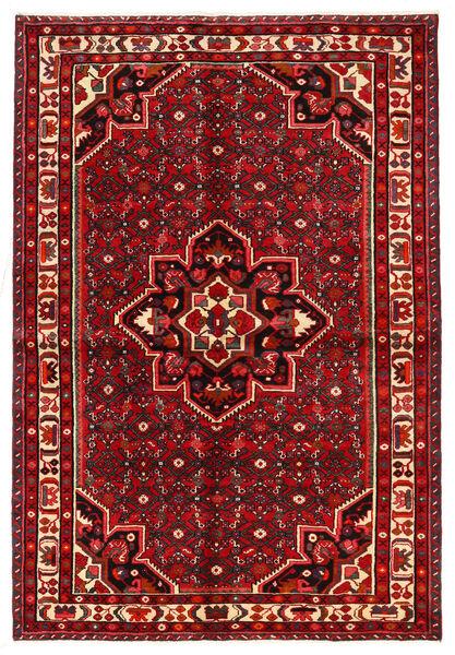 Hosseinabad Matto 146X215 Itämainen Käsinsolmittu Ruoste/Tummanpunainen (Villa, Persia/Iran)