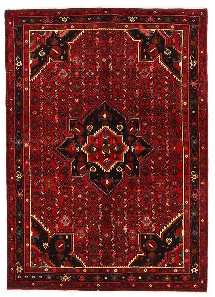 Hosseinabad Matto 154X218 Itämainen Käsinsolmittu Tummanpunainen/Ruoste (Villa, Persia/Iran)