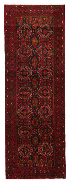 Mashad Matto 99X288 Itämainen Käsinsolmittu Käytävämatto Tummanpunainen (Villa, Persia/Iran)